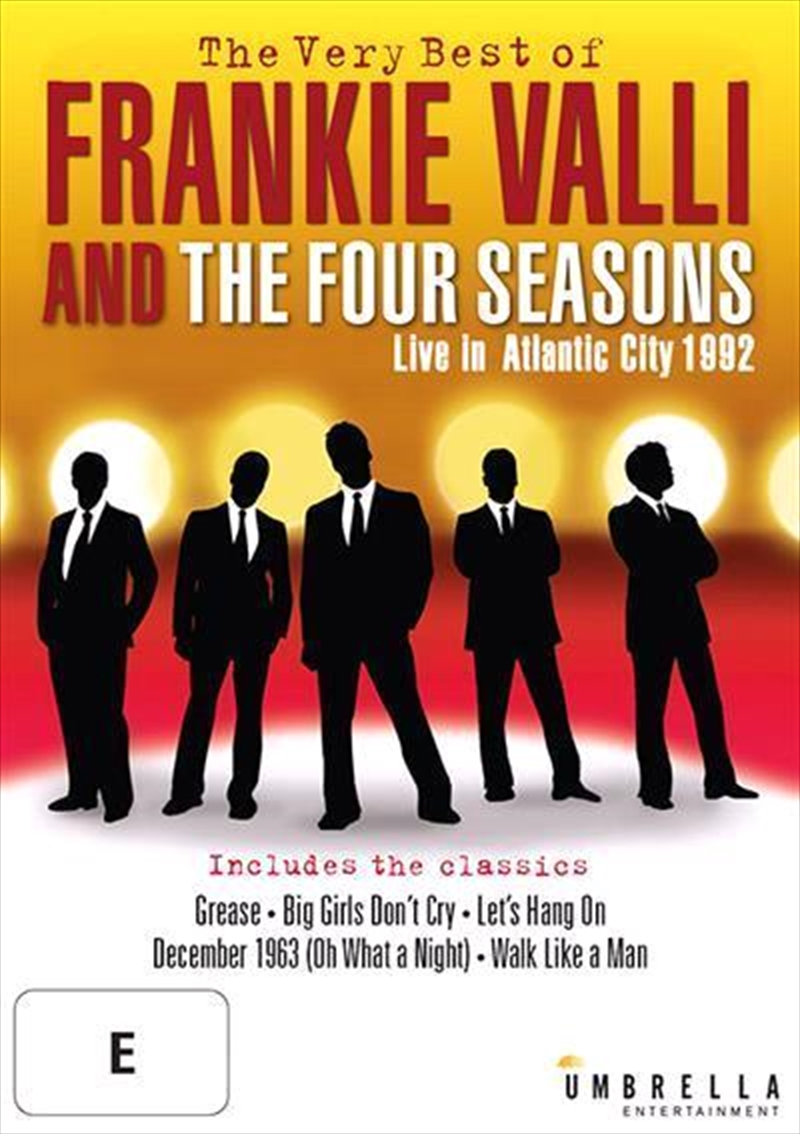 Very Best Of Frankie Valli Amp The Four Seasons Live In