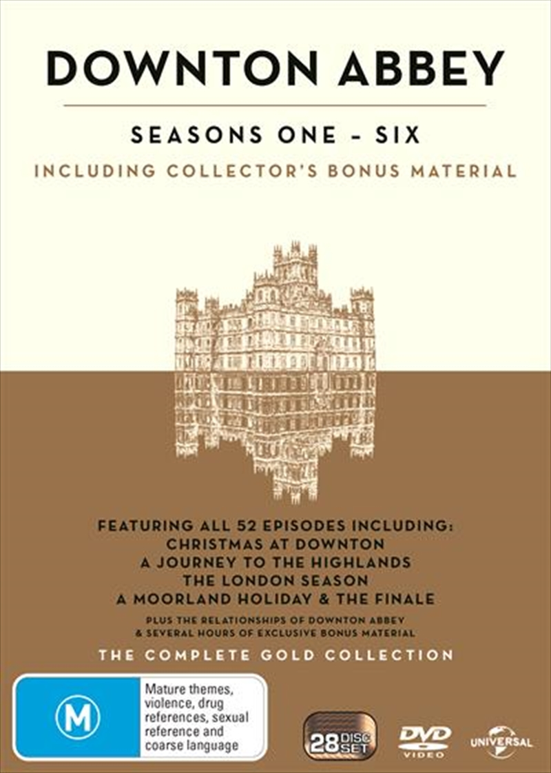 Downton Abbey Boxset - Seasons 1-6 Gold Edition | DVD