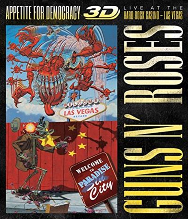 Appetite For Democracy Live At The Hard Rock Casino   Blu-ray 3D