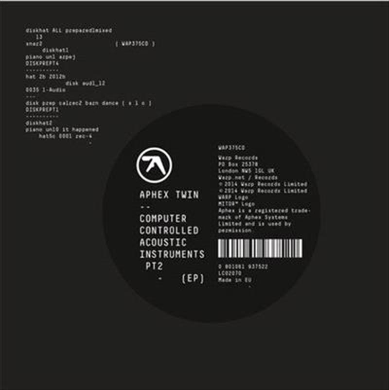 Computer Controlled Acoustic Instruments Pt2 Ep   Vinyl