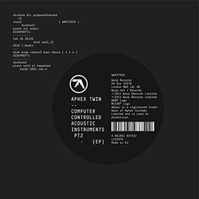 Computer Controlled Acoustic Instruments Pt2 Ep | CD
