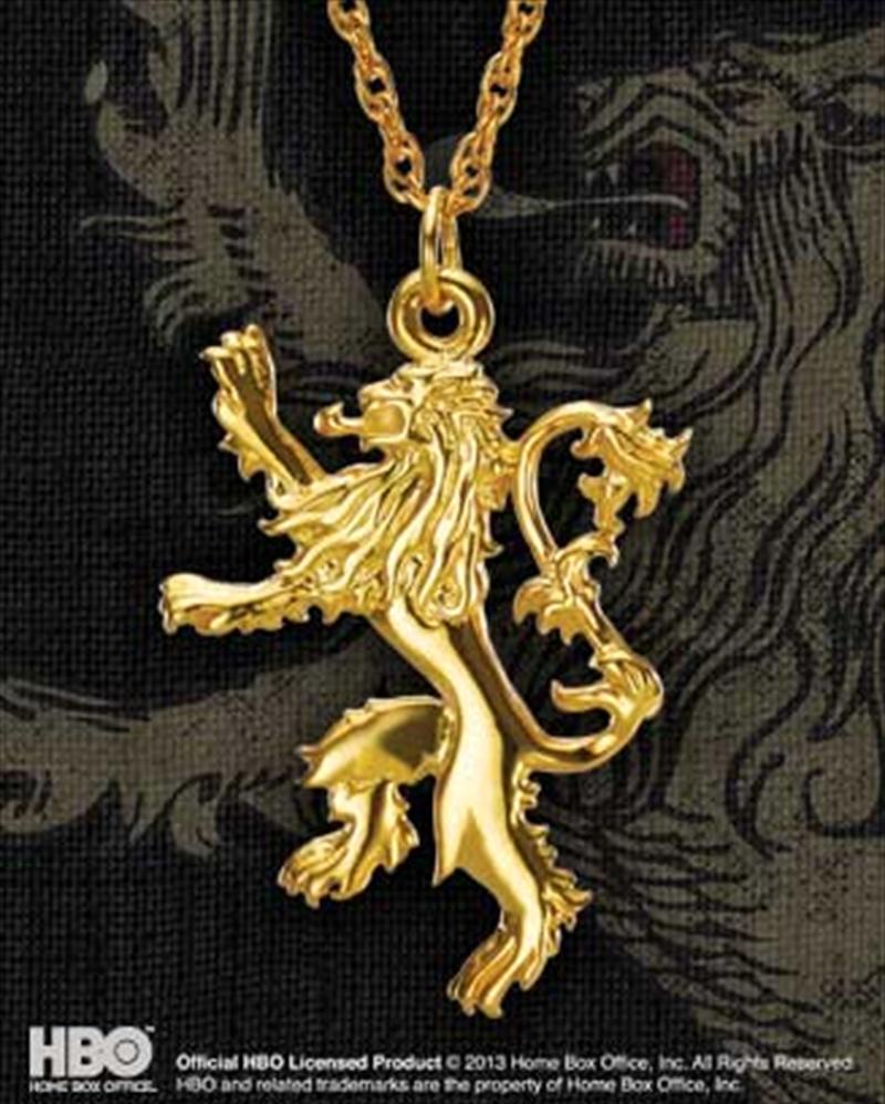 Lannister Golden Pendant | Apparel