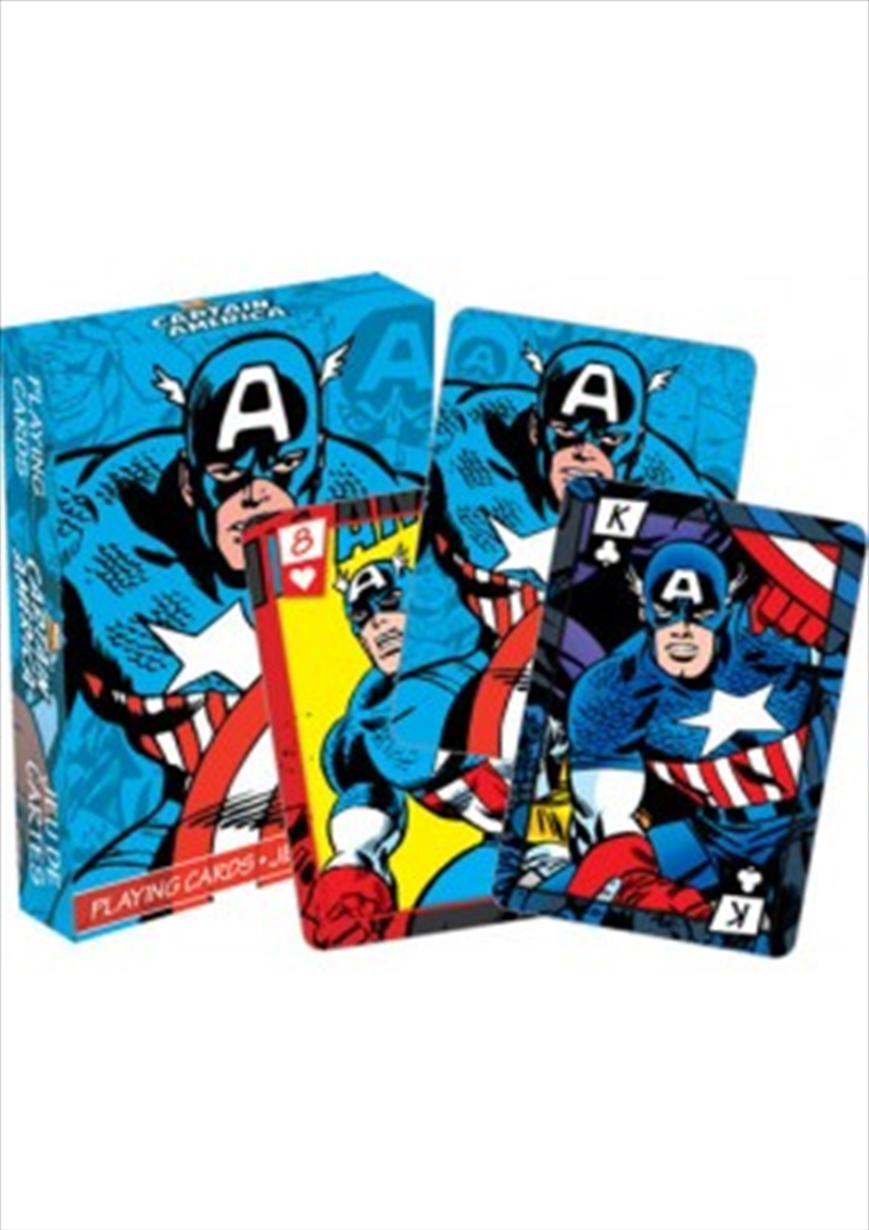 Marvel Captain America Comics Playing Cards | Merchandise