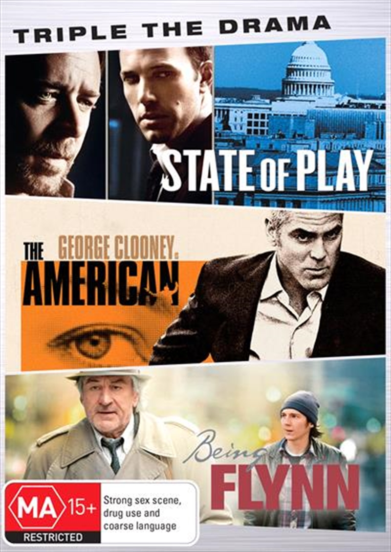 State Of Play / The American / Being Flynn | DVD