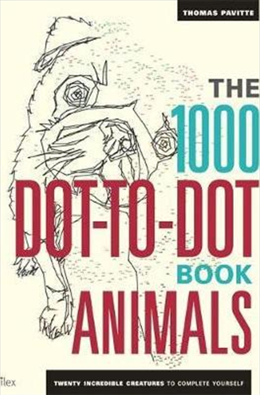 1000 Dot To Dot Book: Animals | Paperback Book