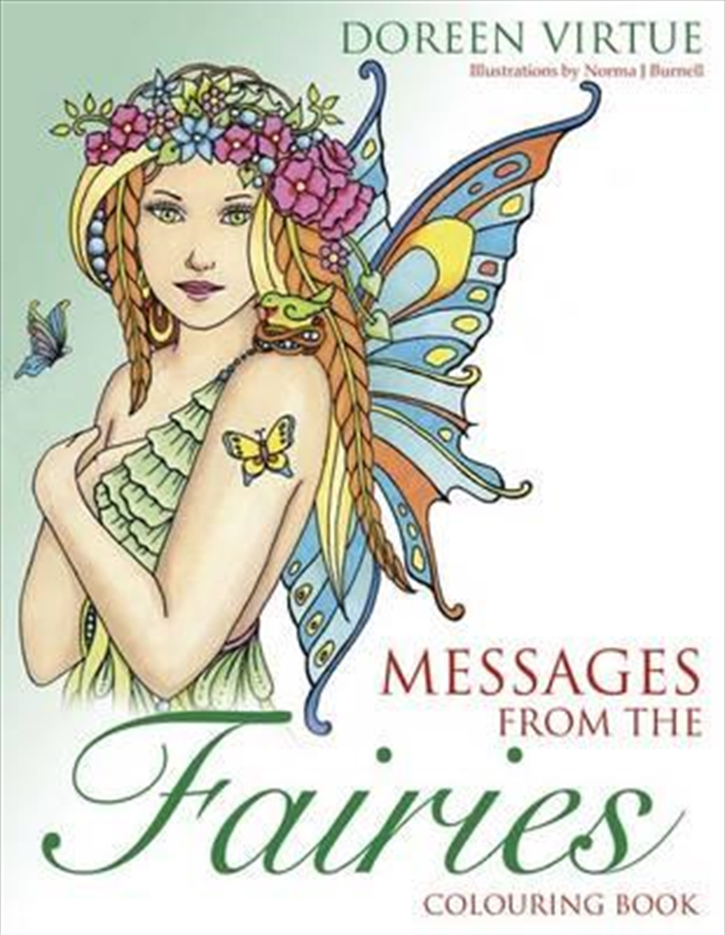 Messages from the Fairies Colouring Book | Paperback Book