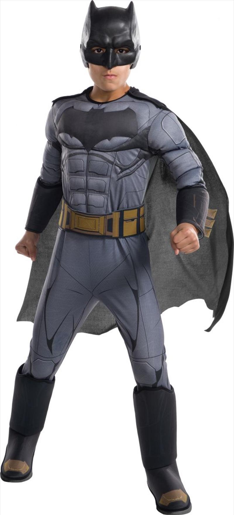 Kids Deluxe Batman Justice League Costume (Medium) | Apparel