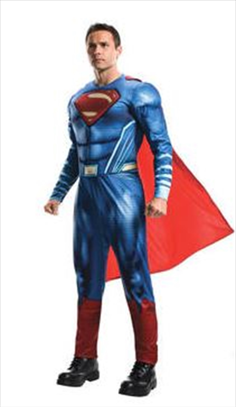 Superman Deluxe Muscle Chest Costume (Adult One Size) | Apparel