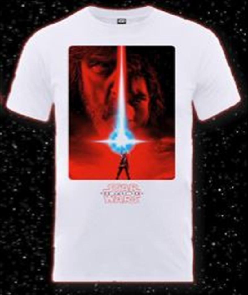 Last Jedi Poster White Uni L   Apparel