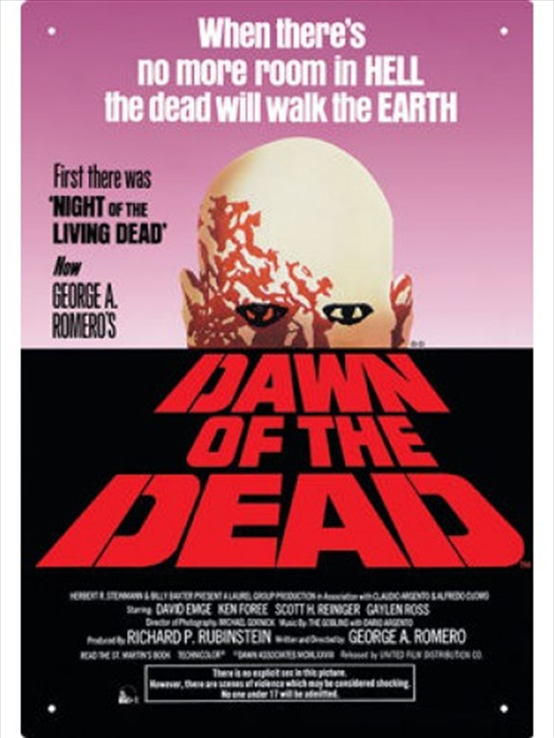 Dawn of the Dead Tin Sign | Merchandise
