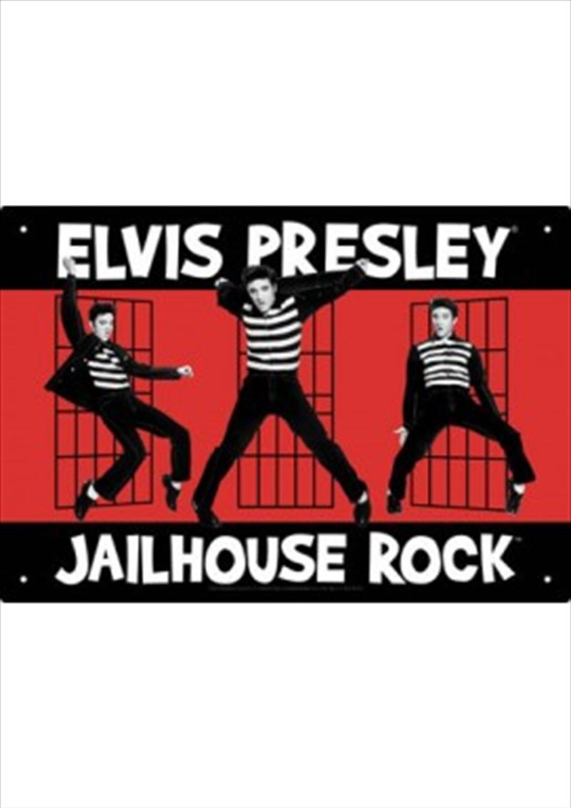 Elvis Presley Jailhouse Tin Sign   Merchandise