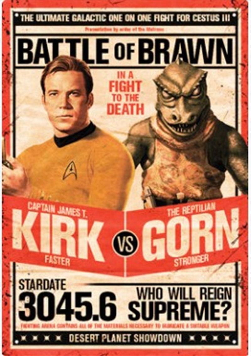 Star Trek Kirk vs Gorn Tin Sign | Merchandise