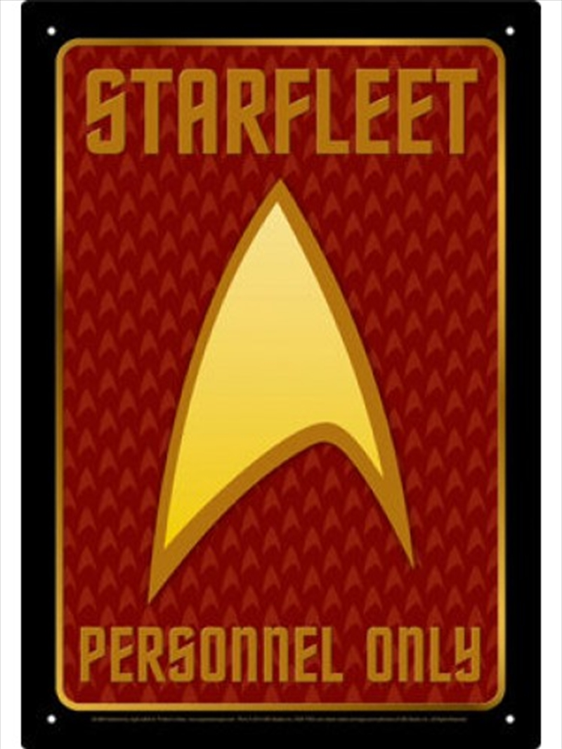 Star Trek Authorized Personnel Tin Sign | Merchandise