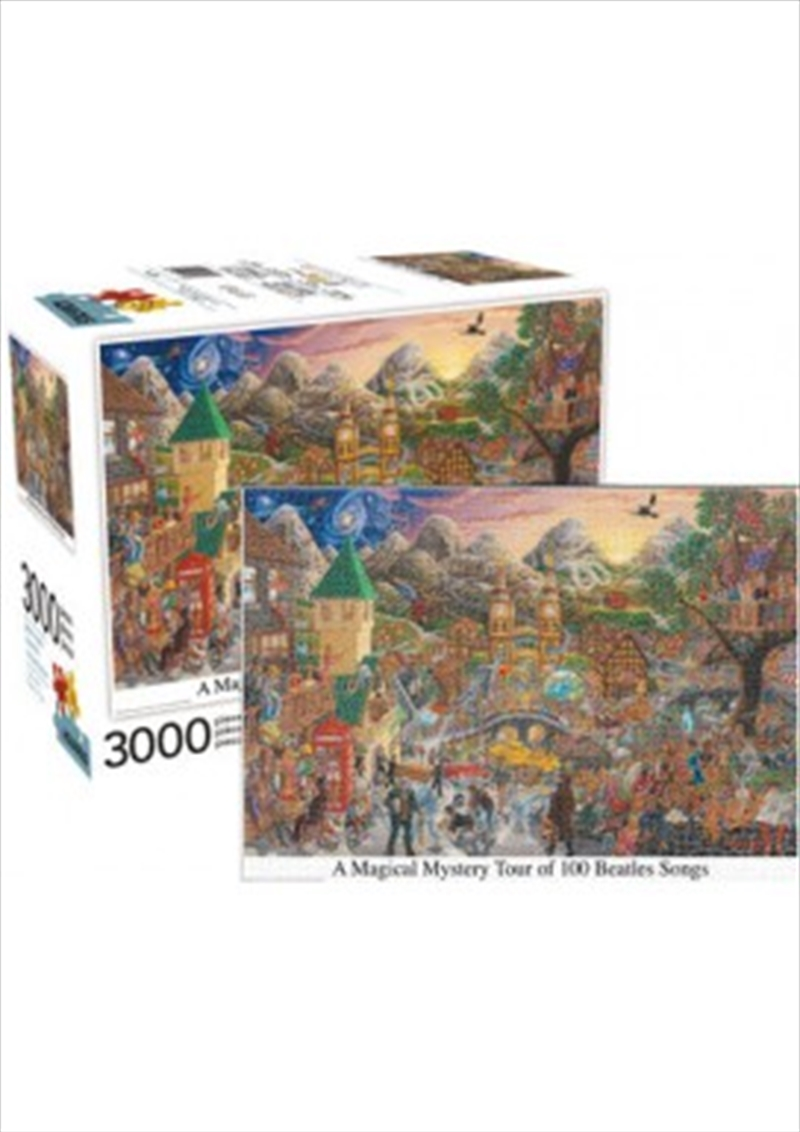 A Magical Mystery Tour of 100 Beatles Songs 3000 Piece Puzzle | Merchandise