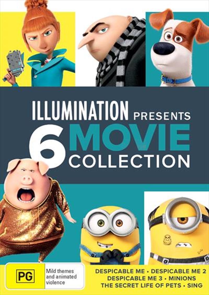 Illumination Boxset: Despicable Me Trilogy/Minions/Secret Life Of Pets/Sing | DVD