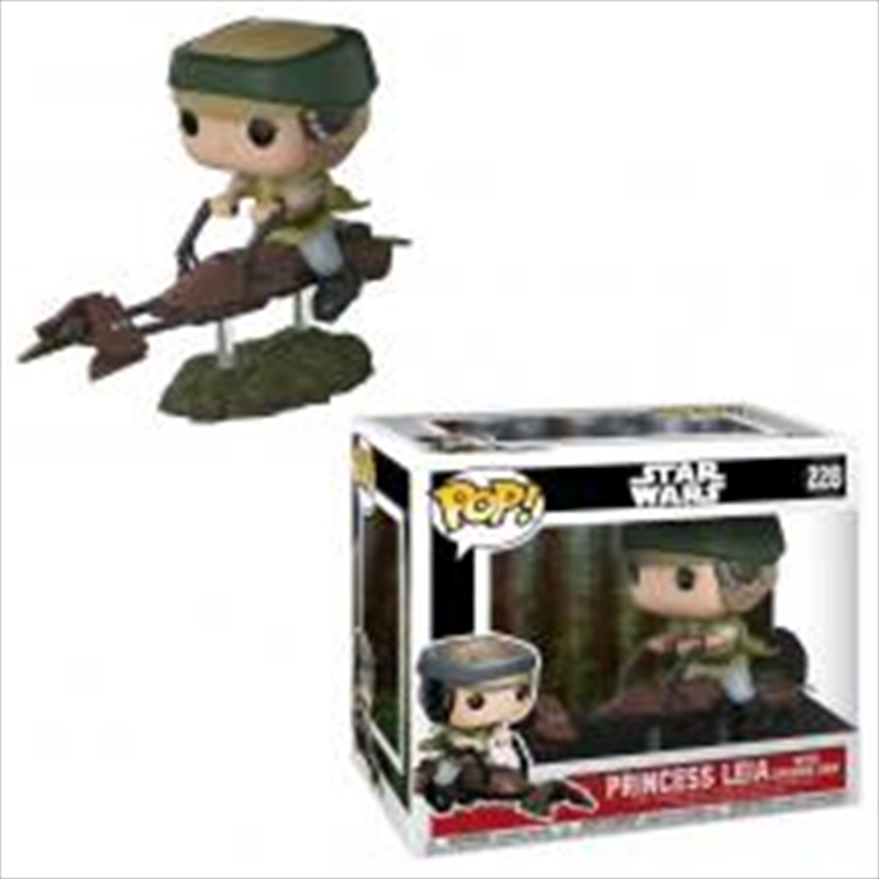 Leia On Speeder Bike | Pop Vinyl