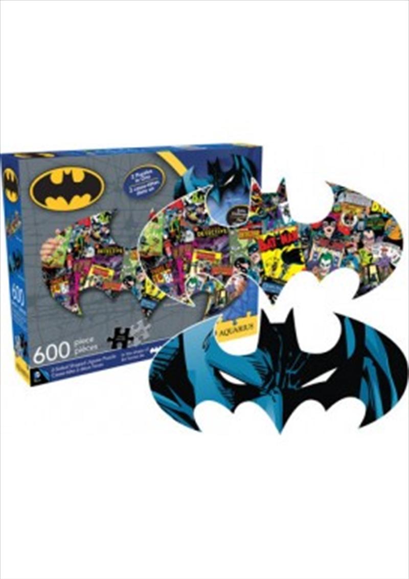 DC Comics Batman Logo & Collage Double Sided 600 Piece Puzzle | Merchandise