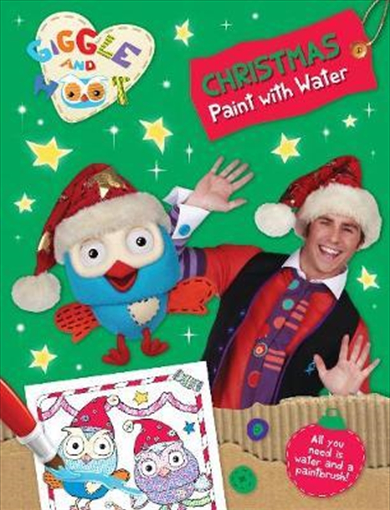 Giggle and Hoot Christmas Paint with Water | Paperback Book