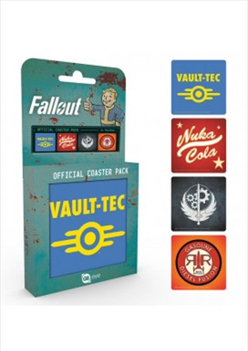 Fallout 4 Mix (Set of 4 cork based drinks coasters) | Merchandise
