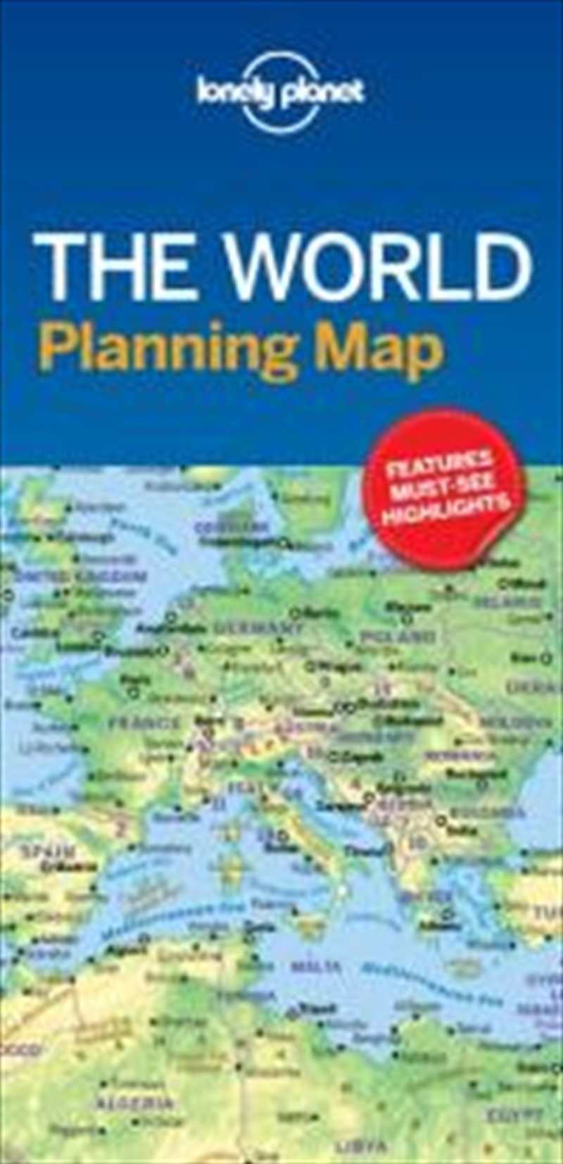 Lonely Planet The World Planning Map | Sheet Map