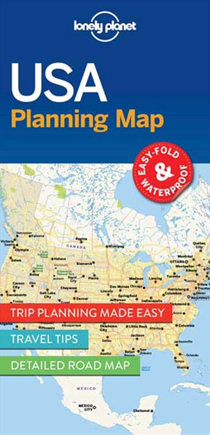 Lonely Planet USA Planning Map | Sheet Map