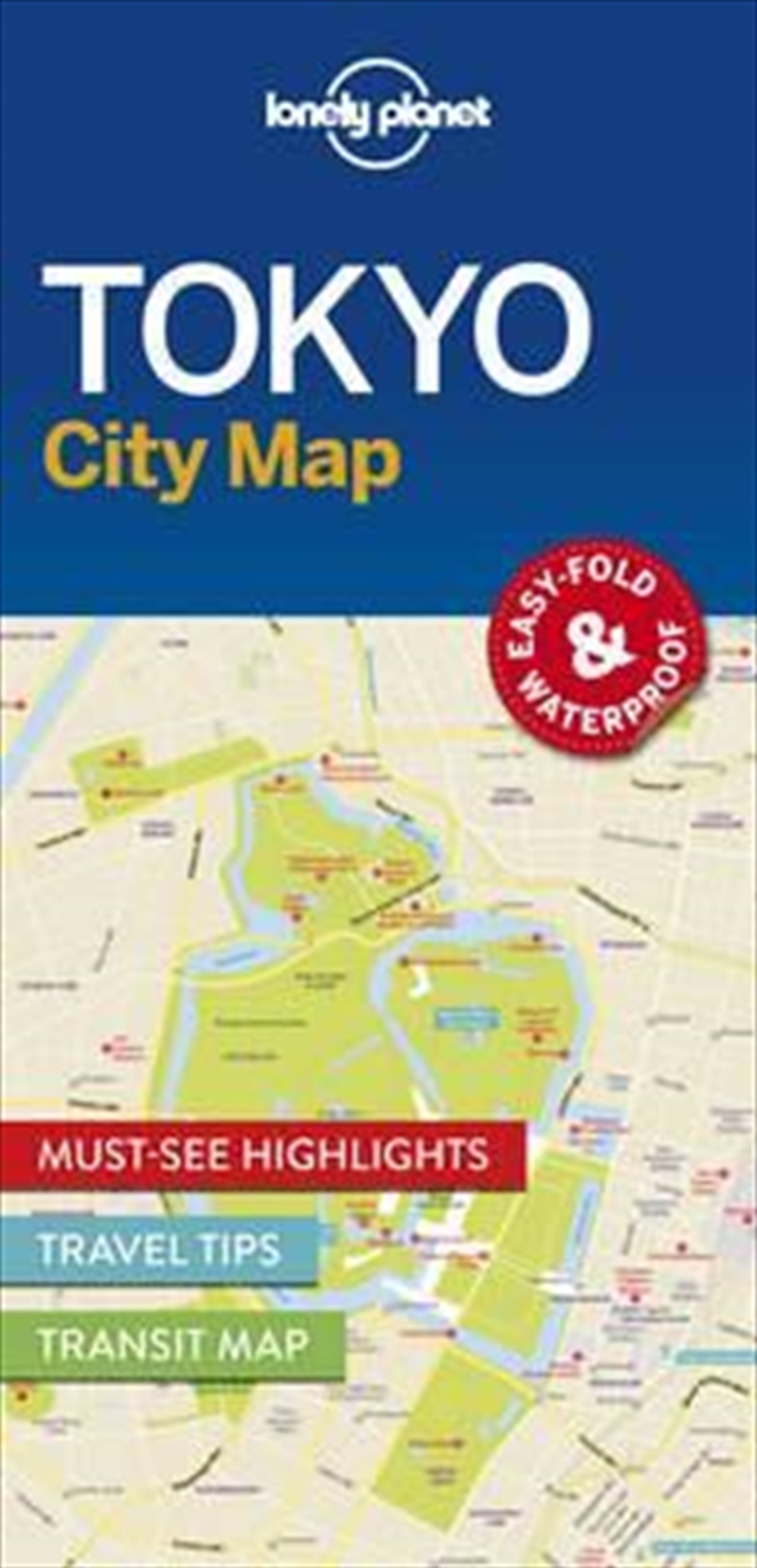 Lonely Planet Tokyo City Map | Sheet Map