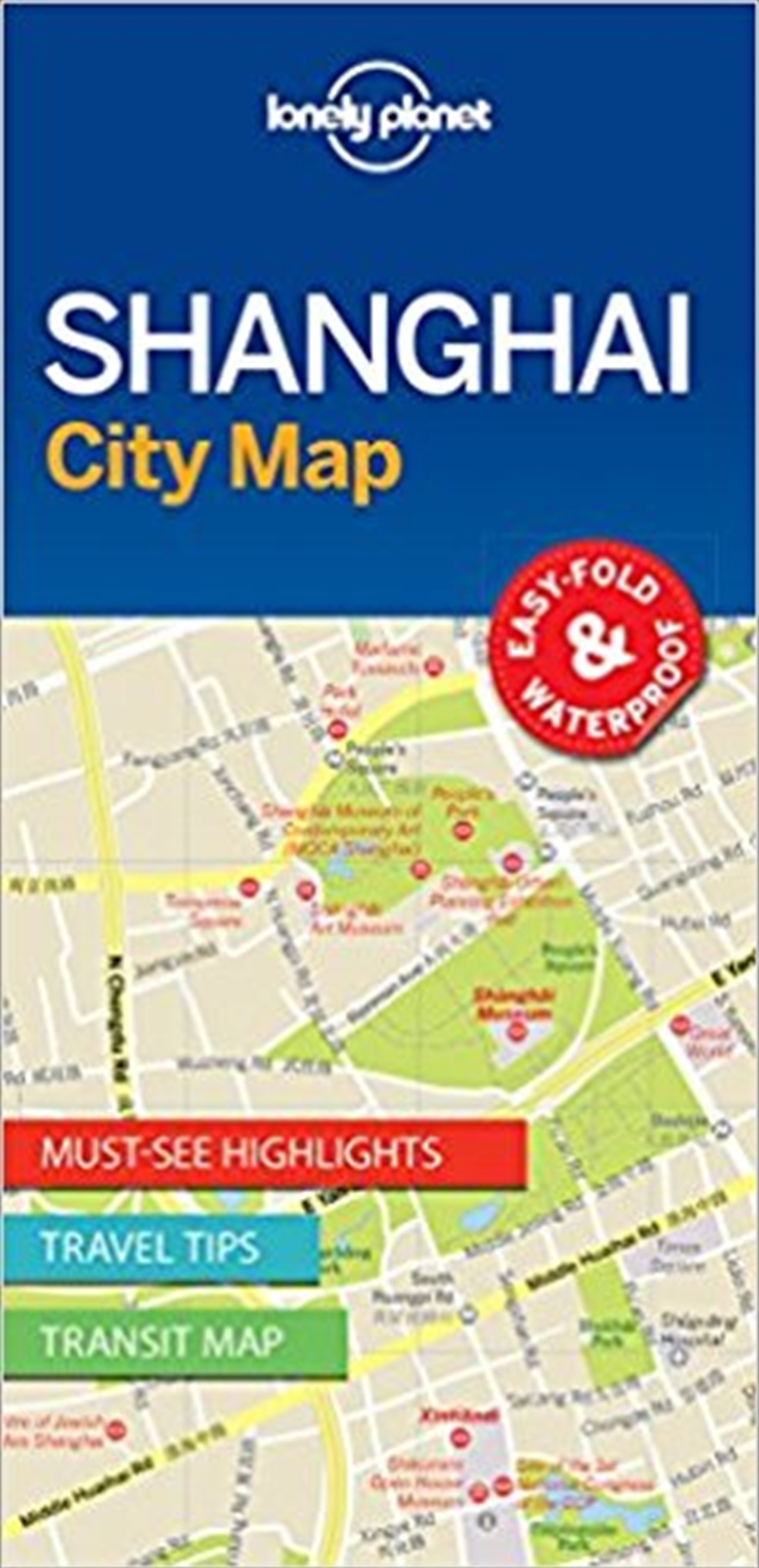 Lonely Planet Shanghai City Map | Sheet Map