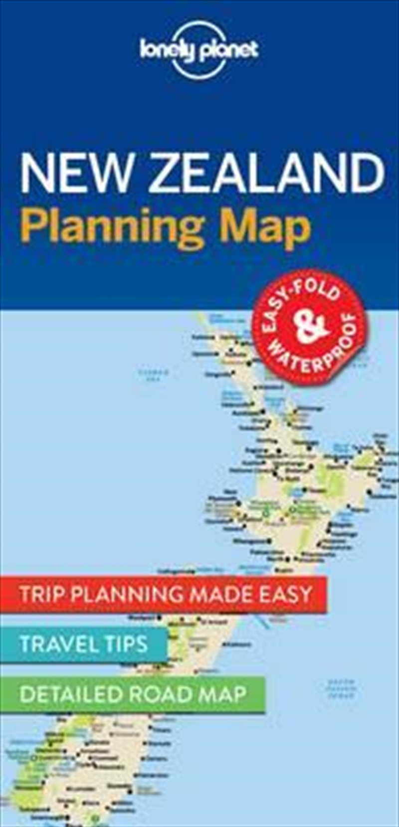 Lonely Planet New Zealand Planning Map | Sheet Map