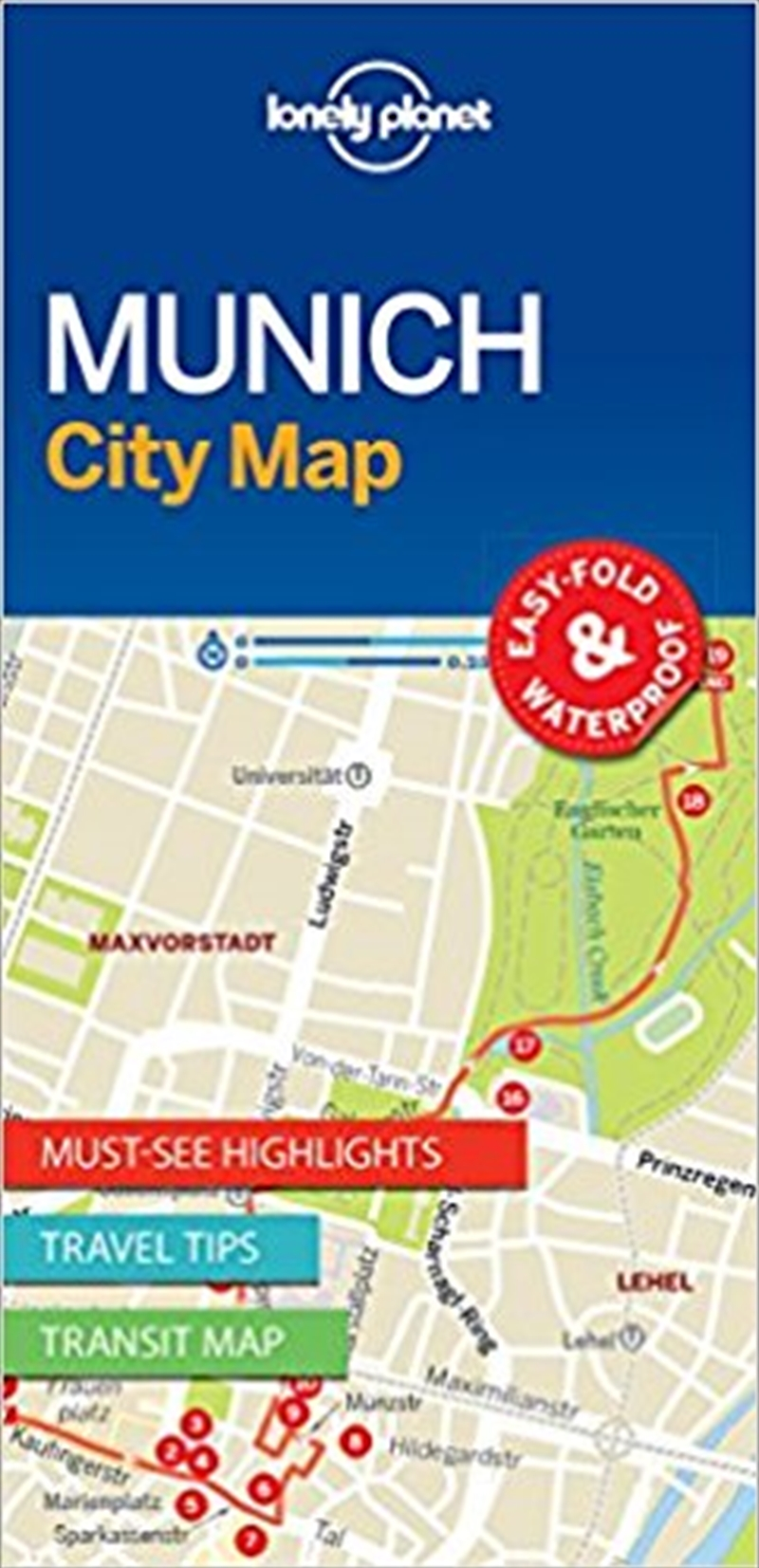 Lonely Planet Munich City Map | Sheet Map