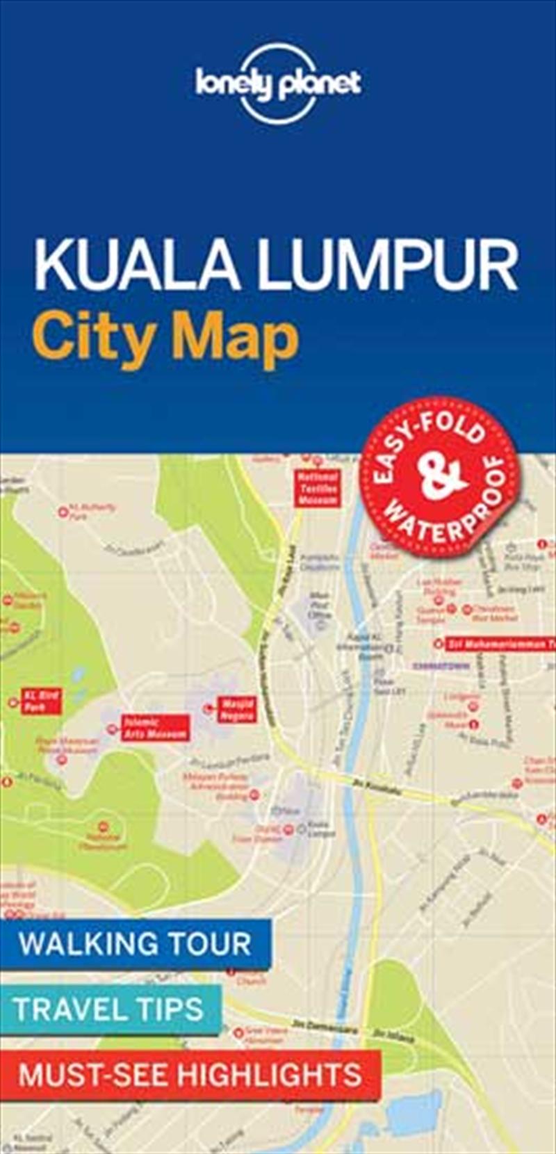 Lonely Planet Kuala Lumpur City Map | Sheet Map