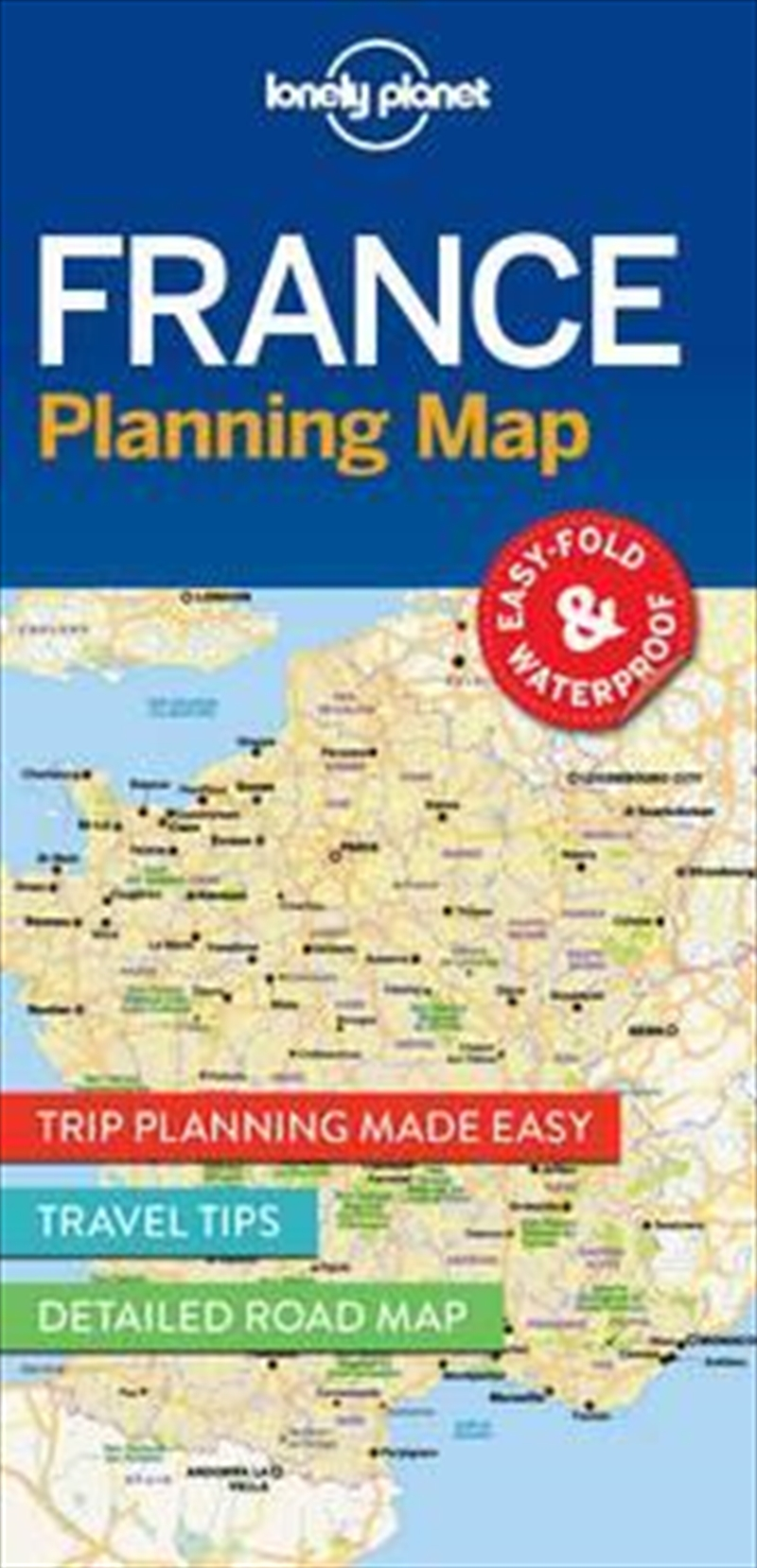 Lonely Planet France Planning Map | Sheet Map