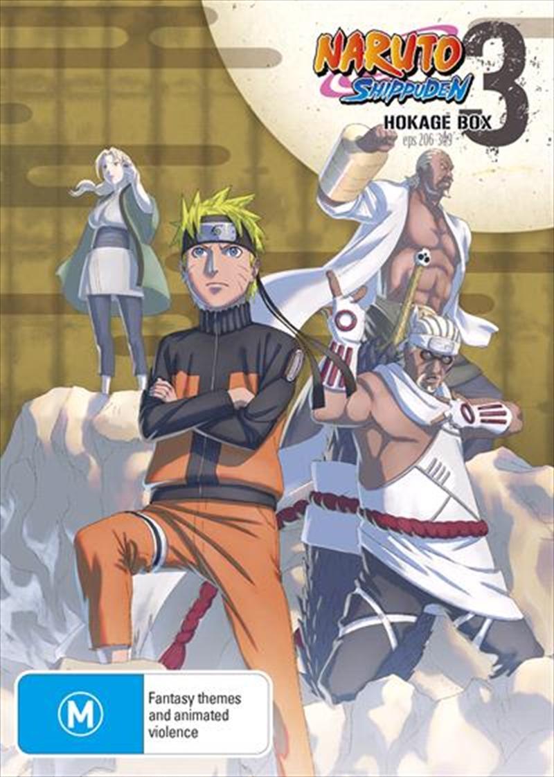 Naruto Shippuden Hokage - Box 3 - Eps 206-309 | DVD