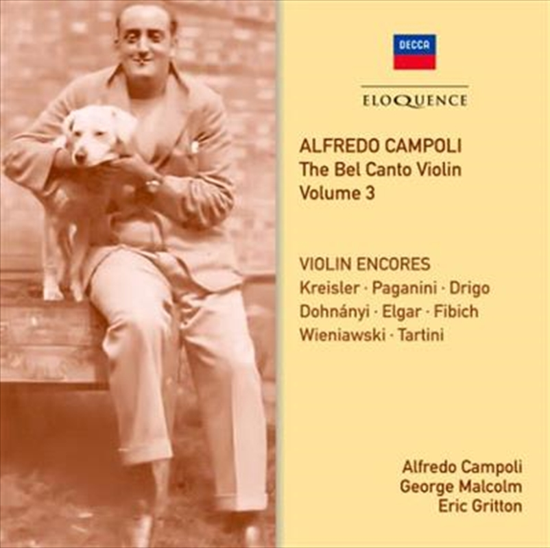 Bel Canto Violin - Volume 3 | CD