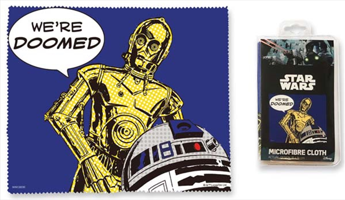 Droids Microfibre Cloth - We're Doomed | Accessories