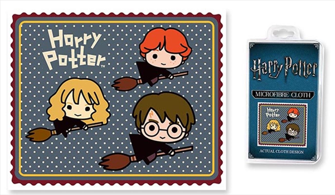 Harry Potter Microfibre Cloth- Chibi Broomsticks | Tuggl