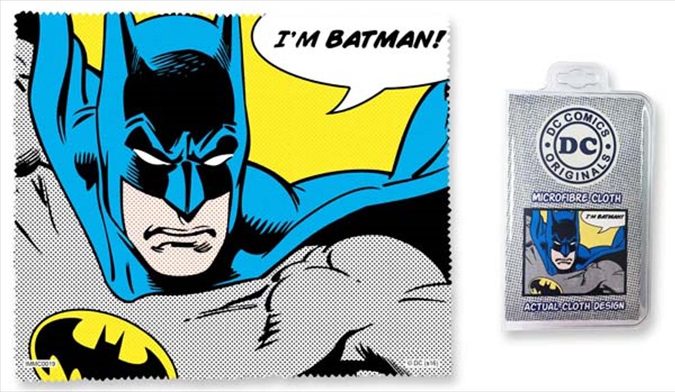 Batman Quote Microfibre Cloth - I'm Batman | Accessories