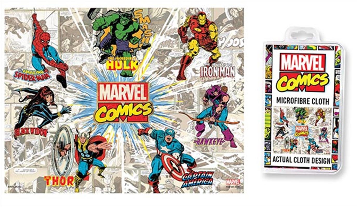Marvel Comics - Retro Rays Microfibre Cloth | Accessories