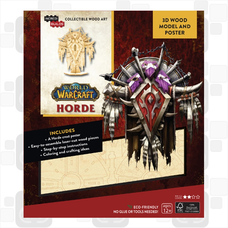 Incredibuilds World of Warcraft Horde 3D Wood Model | Merchandise