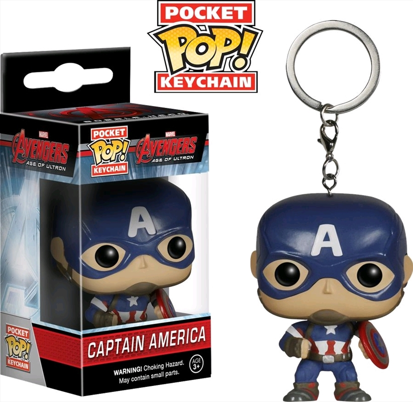 Avengers 2: Age of Ultron - Captain America Pocket Pop! Keychain | Accessories