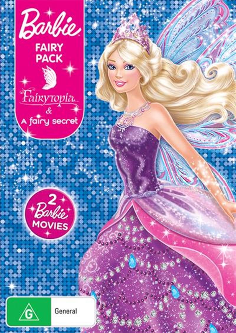 Barbie Fairy Pack - Barbie Fairytopia / Barbie A Fairy Secret | 2 On 1 | DVD