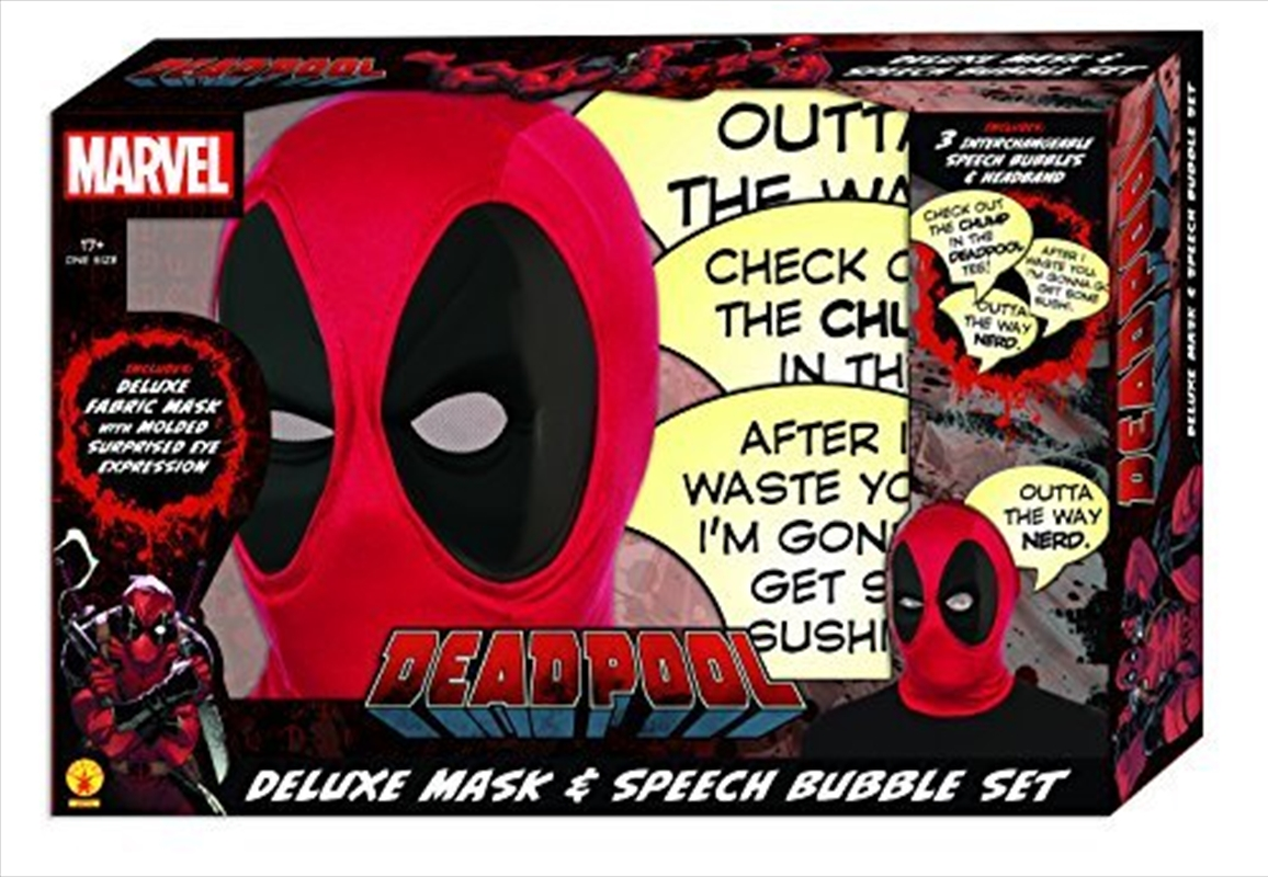 Deluxe Mask With Speech Bubble | Apparel