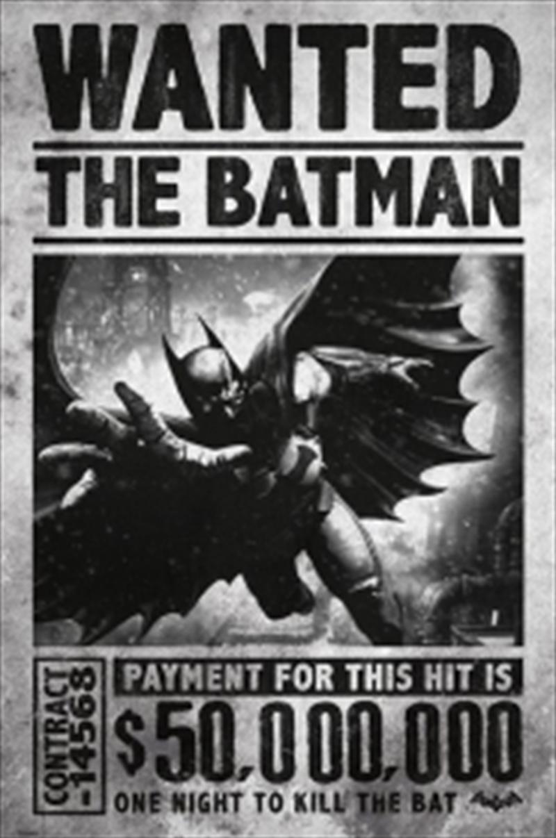 Arkham Origins Wanted   Merchandise