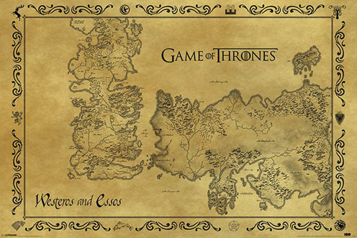 Game Of Thrones - Antique Map | Merchandise