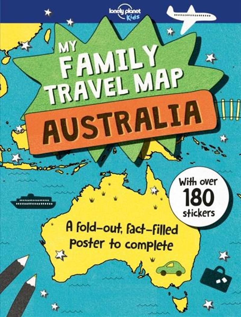 My Family Travel Map - Australia   Paperback Book