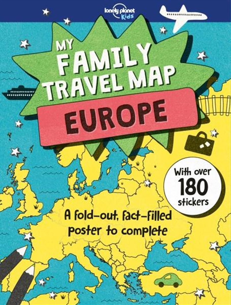 My Family Travel Map - Europe | Paperback Book