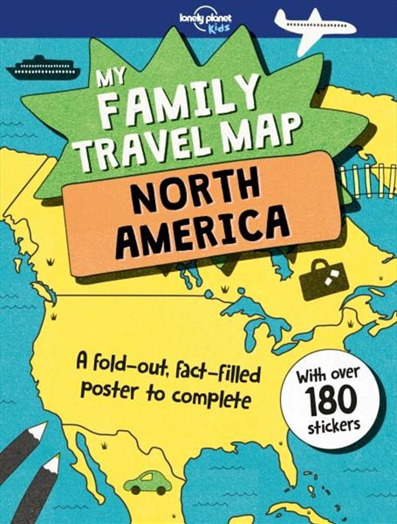 My Family Travel Map - North America | Paperback Book