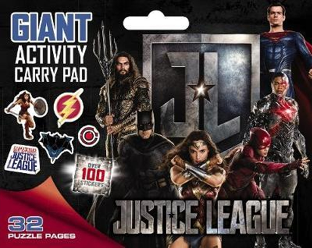 Justice League - Giant Activity Carry Pad | Paperback Book