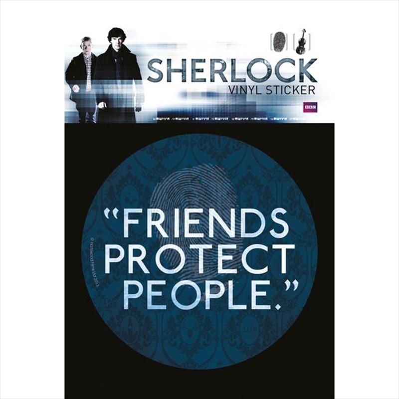 Sherlock Friends Vinyl Sticker   Merchandise