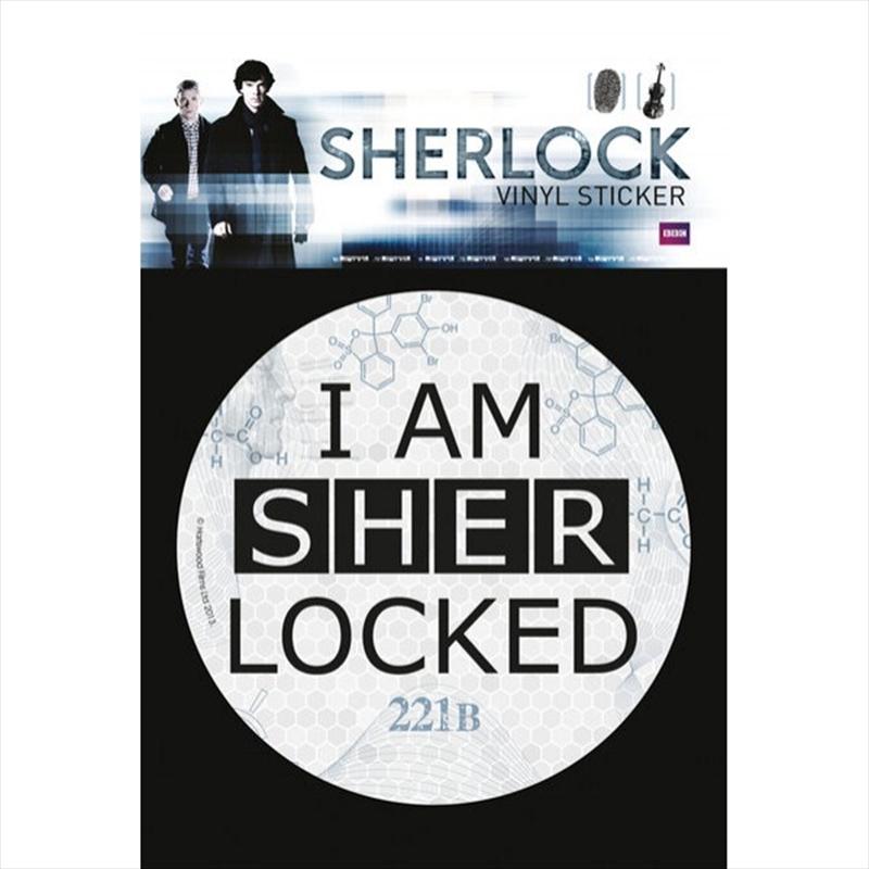 Sherlock - I am Sher-Locked Vinyl Sticker | Merchandise