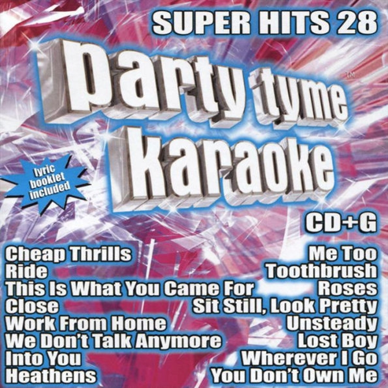 Party Tyme Karaoke - Super Hits - Vol 28 | CD